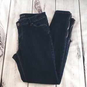 WHBM Skimmer dark wash jeans, 8